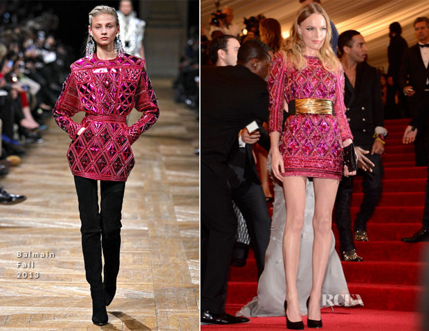 Kate Bosworth In Balmain - 2013 Met Gala