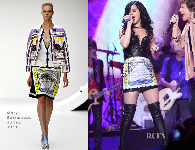 Katy Perry In Mary Katrantzou - The Rolling Stones' '50 and Counting' Tour