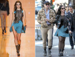 Katy Perry In Versace & Sachin + Babi - Out In New York City