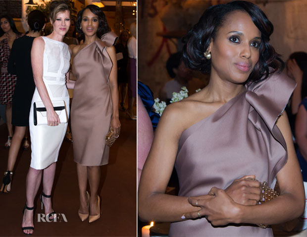 Kerry Washington In Lanvin - ELLE & Tod's Celebrate Kerry Washington
