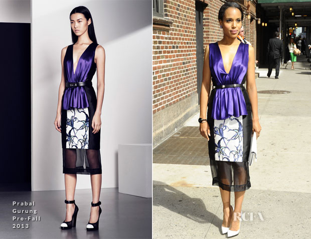 Kerry Washington In Prabal Gurung - Late Show with David Letterman