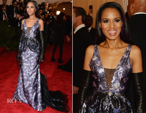 Kerry Washington In Vera Wang - 2013 Met Gala