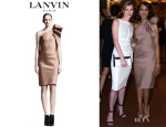 Kerry Washington's Lanvin One Shoulder Satin Dress