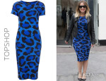 Kimberley Walsh's Topshop Leopard Cut-Out Back Body Con Dress