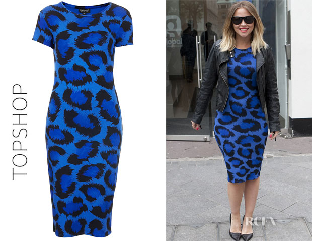 Kimberly Walsh's Topshop Leopard Cut-Out Back Dress