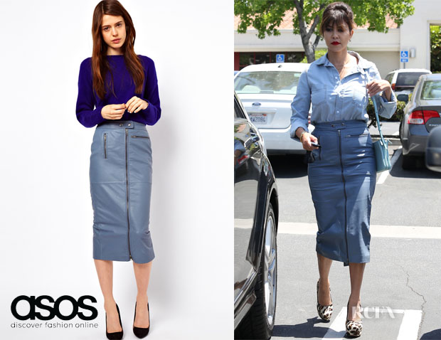 Kourtney Kardashian's ASOS Biker Leather Skirt