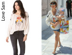 Kourtney Kardashian's Love Sam Beaded Ikat Top