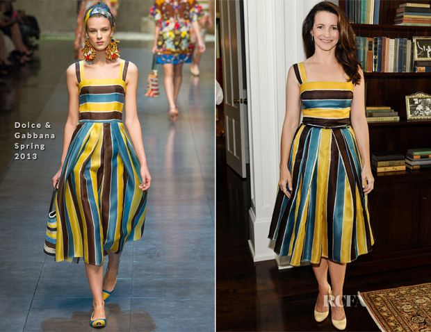 Kristin Davis In Dolce & Gabbana -  PS ARTS' Bag Lunch