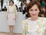 Kristin Scott Thomas In Giambattista Valli - 'Only God Forgives' Cannes Film Fesitval Photocall