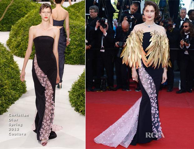 Laetitia Casta In Christian Dior Couture - 'Zulu' Cannes Film Festival Premiere and Closing Ceremony