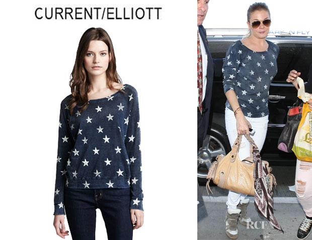 LeAnn Rimes' CurrentElliott 'Letterman' Star Knit Top