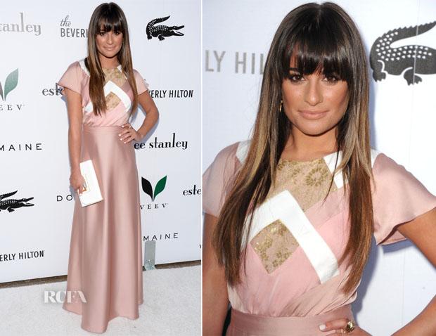 Lea Michele In Alon Livné - The Beverly Hilton Unveils Redesigned Aqua Star Pool
