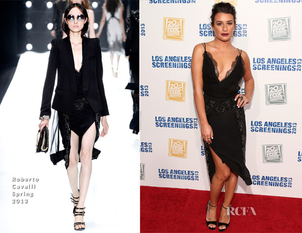 Lea Michele In Roberto Cavalli - 2013 LA Screenings Lot Party