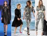 Lea Seydoux In Elie Saab & Adele Exarchopoulos In Balmain - 'Le Grand Journal'