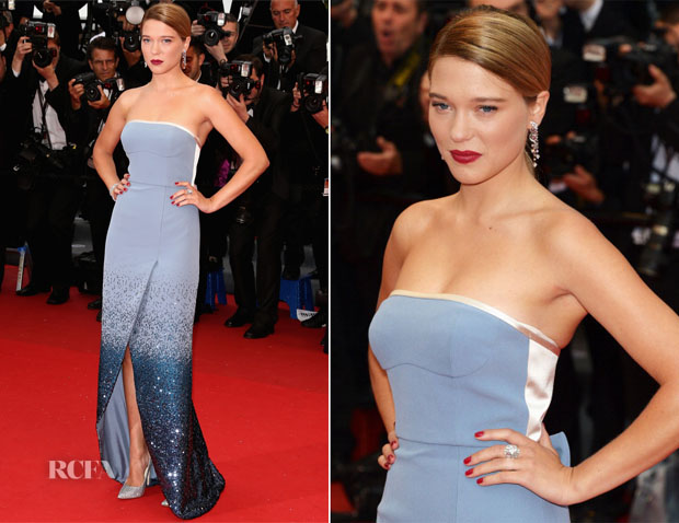 Lea Seydoux In Louis Vuitton - 'Grand Central' Cannes Film Festival Premiere