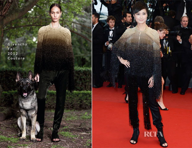 Li Yuchun  In Givenchy Couture - 'All Is Lost' Cannes Film Festival Premiere