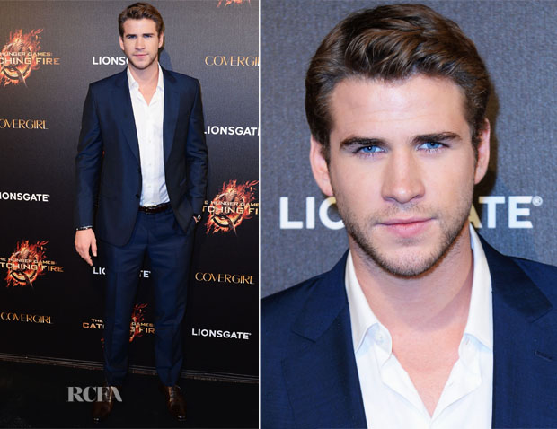 Liam Hemsworth In Ermenegildo Zegna - 'The Hunger Games Catching Fire' Cannes Film Festival Party