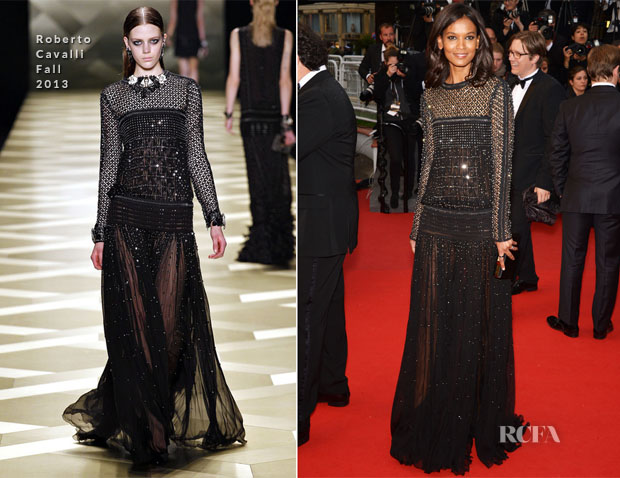 Liya Kebede In Roberto Cavalli - 'Jimmy P (Psychotherapy Of A Plains Indian)' Cannes Film Festival Premiere