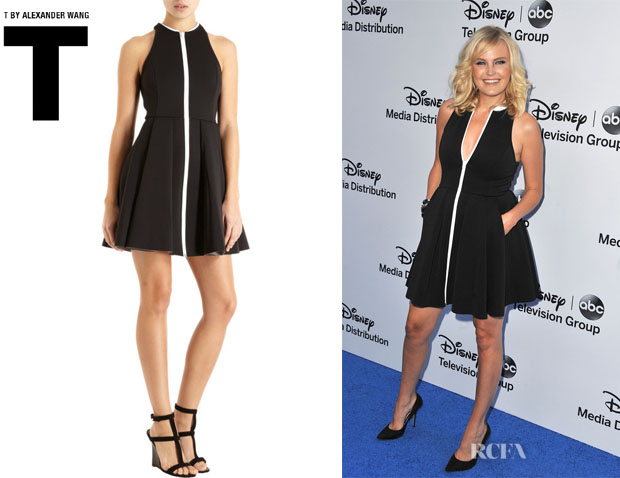 Malin Akerman's T by Alexander Wang Pleated Neoprene Dress