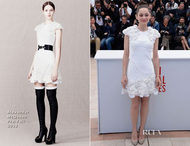 Marion Cotillard In Alexander McQueen - 'The Immigrant' Cannes Film Festival Photocall