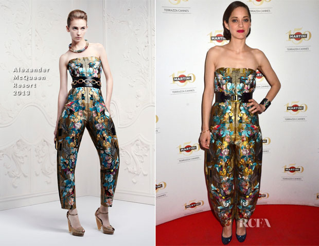 Marion Cotillard In Alexander McQueen - Crash Magazine Cocktail Party
