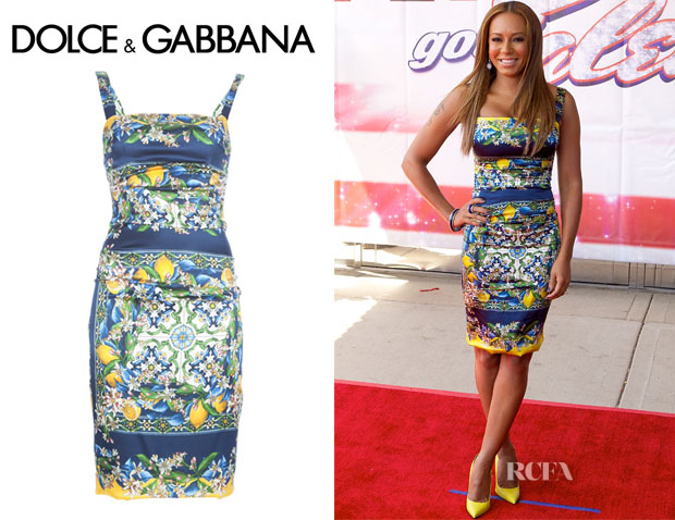 Melanie Brown's Dolce & Gabbana Sicilain Print Dress