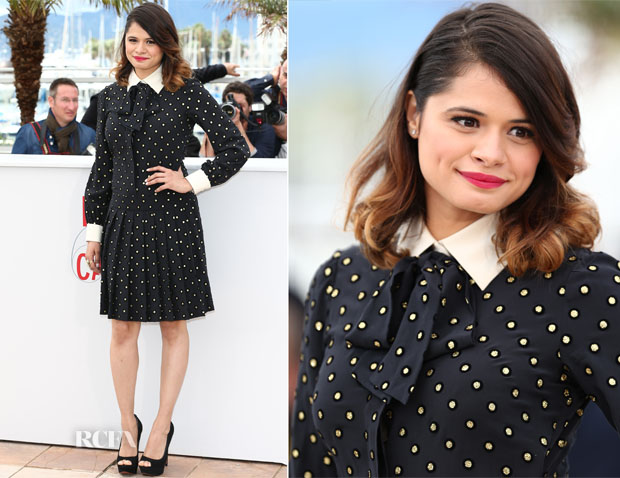 Melonie Diaz In Vintage Moschino - 'Fruitvale Station' Cannes Film Festival Photocall