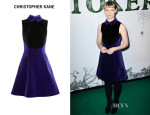 Mia Wasikowska's Christopher Kane Two-Tone Velvet Dress