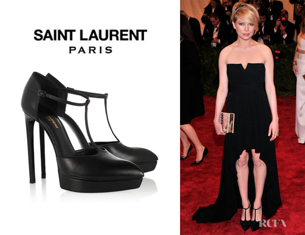 Michelle Williams' Saint Laurent Pointed Mary-Jane Pumps