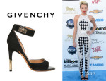 Miley Cyrus' Givenchy Suede Ankle Strap Sandals