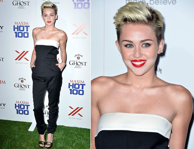 Miley Cyrus In Valentino - Maxim Hot 100 Party