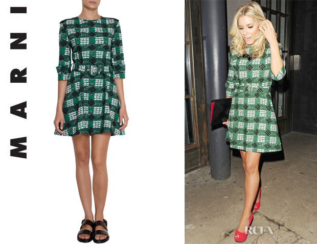 Mollie King's Marni Printed Trench Dress