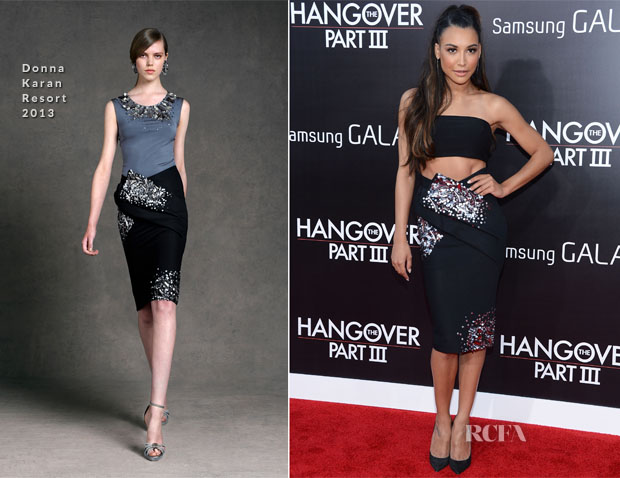 Naya Rivera In Donna Karan - 'The Hangover Part III' LA Premiere