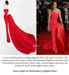 Tamara Ralph and Michael Russo On Nieves Alvarez' Ralph & Russo Couture Cannes Film Festival Gown