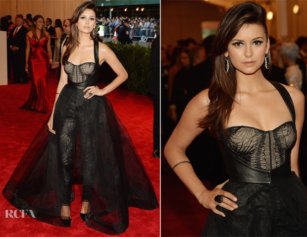 Nina Dobrev In Monique Lhuillier - 2013 Met Gala