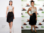 Nina Dobrev In Thakoon - Origins GinZing Energy-Boosting Moisturizer Launch