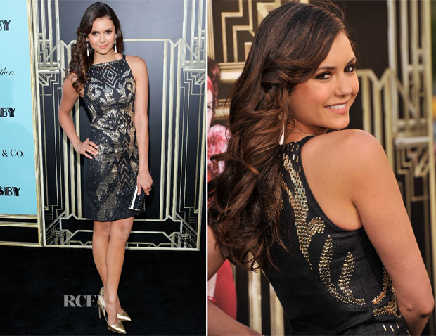 Nina Dobrev In Versace - 'The Great Gatsby' World Premiere