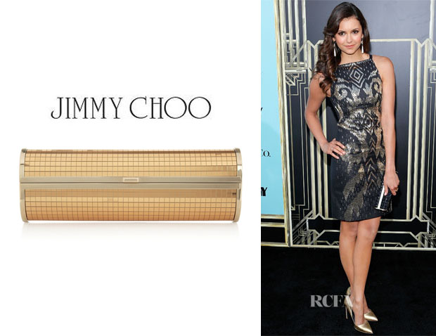 Nina Dobrev's Jimmy Choo 'Cosma' Mirrored Clutch