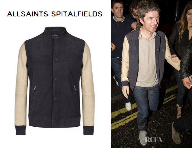 Noah Gallagher's AllSaints 'Bleek' Leather Bomber Jacket