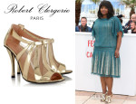 Octavia Spencer's Robert Clergerie Querrye Ankle Boots