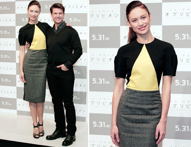 Olga Kurylenko In Victoria Beckham - 'Oblivion' Tokyo Press Conference