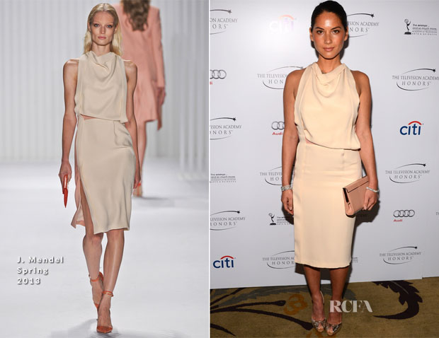Olivia Munn In J Mendel - 2013 Television Academy Honors