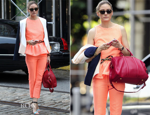 Olivia Palermo In MSGM & Diane von Furstenberg - Out In New York City