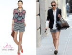 Olivia Palermo In Milly for Banana Republic - Out In New York City