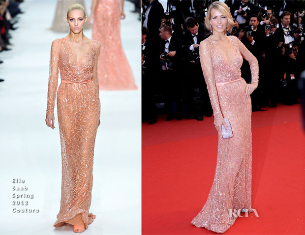 Petra Nemcova In Elie Saab Couture - 'All Is Lost' Cannes Film Festival Premiere