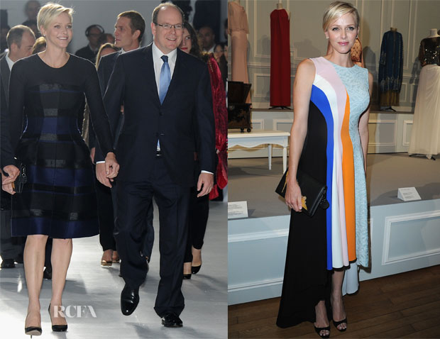 Princess Charlene of Monaco In Christian Dior - Dior Cruise Resort 2014 Presentation & Cocktail Reception