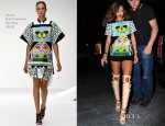 Rihanna In Mary Katrantzou - Da Silvano