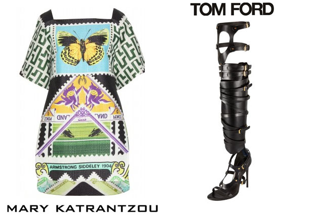 Rihanna In Mary Katrantzou & Tom Ford