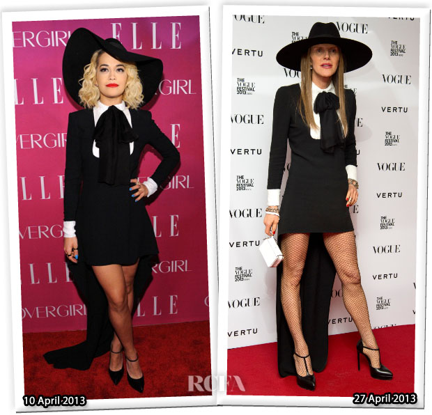 Rita Ora vs Anna Dello Russo in Saint Laurent