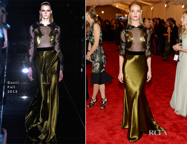 Rosie Huntington-Whiteley In Gucci - 2013 Met Gala